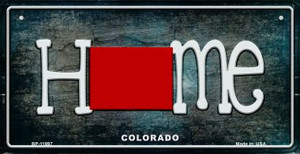 Colorado Home State Outline Wholesale Novelty Bicycle Plate BP-11997