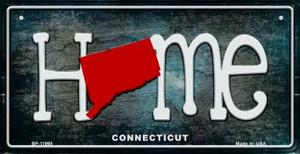 Connecticut Home State Outline Wholesale Novelty Bicycle Plate BP-11998