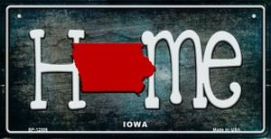 Iowa Home State Outline Wholesale Novelty Bicycle Plate BP-12006