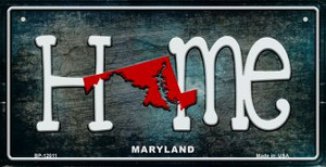 Maryland Home State Outline Wholesale Novelty Bicycle Plate BP-12011