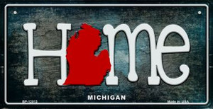 Michigan Home State Outline Wholesale Novelty Bicycle Plate BP-12013