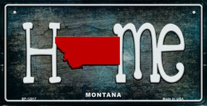 Montana Home State Outline Wholesale Novelty Bicycle Plate BP-12017