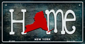 New York Home State Outline Wholesale Novelty Bicycle Plate BP-12023