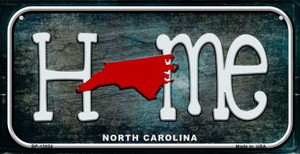 North Carolina Home State Outline Wholesale Novelty Bicycle Plate BP-12024