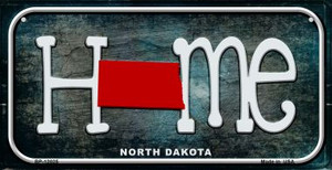 North Dakota Home State Outline Wholesale Novelty Bicycle Plate BP-12025