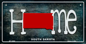 South Dakota Home State Outline Wholesale Novelty Bicycle Plate BP-12032