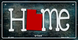 Utah Home State Outline Wholesale Novelty Bicycle Plate BP-12035