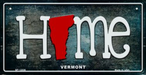 Vermont Home State Outline Wholesale Novelty Bicycle Plate BP-12036
