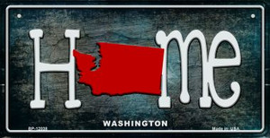 Washington Home State Outline Wholesale Novelty Bicycle Plate BP-12038
