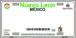 Nuevo Leon Mexico Background Novelty Wholesale Metal License Plate LP-4793