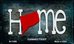 Connecticut Home State Outline Wholesale Novelty Magnet M-11998