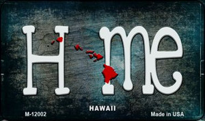 Hawaii Home State Outline Wholesale Novelty Magnet M-12002