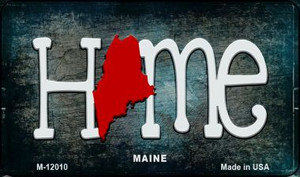 Maine Home State Outline Wholesale Novelty Magnet M-12010