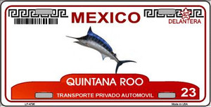 Quintana Roo Mexico Novelty Background Wholesale Metal License Plate LP-4796