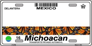 Michoacan Mexico Novelty Background Wholesale Metal License Plate LP-4798