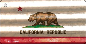 California Corrugated Flag Wholesale Novelty Key Chain KC-11946