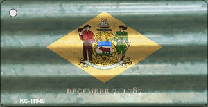 Delaware Corrugated Flag Wholesale Novelty Key Chain KC-11949