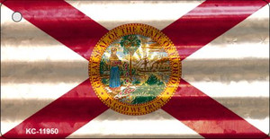 Florida Corrugated Flag Wholesale Novelty Key Chain KC-11950