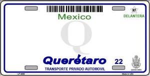 Queretaro Mexico Novelty Background Wholesale Metal License Plate LP-4800