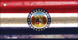Missouri Corrugated Flag Wholesale Novelty Key Chain KC-11966