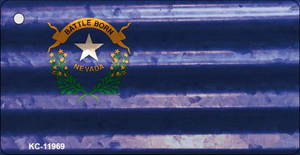 Nevada Corrugated Flag Wholesale Novelty Key Chain KC-11969