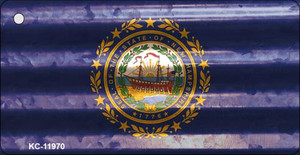 New Hampshire Corrugated Flag Wholesale Novelty Key Chain KC-11970