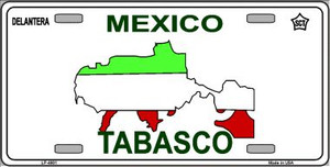 Tabasco Mexico Novelty Background Wholesale Metal License Plate LP-4801