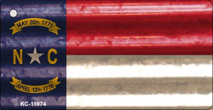 North Carolina Corrugated Flag Wholesale Novelty Key Chain KC-11974