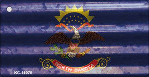 North Dakota Corrugated Flag Wholesale Novelty Key Chain KC-11975