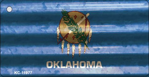 Oklahoma Corrugated Flag Wholesale Novelty Key Chain KC-11977