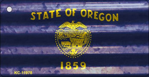 Oregon Corrugated Flag Wholesale Novelty Key Chain KC-11978