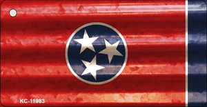 Tennessee Corrugated Flag Wholesale Novelty Key Chain KC-11983