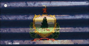 Vermont Corrugated Flag Wholesale Novelty Key Chain KC-11986