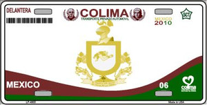Colima Mexico Novelty Background Wholesale Metal License Plate LP-4803