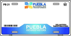 Puebla Mexico Novelty Background Wholesale Metal License Plate LP-4806