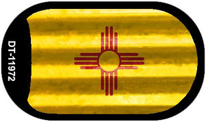 New Mexico Corrugated Flag Wholesale Novelty Dog Tag Necklace DT-11972