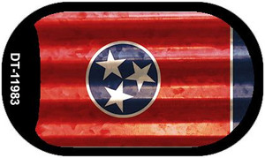Tennessee Corrugated Flag Wholesale Novelty Dog Tag Necklace DT-11983
