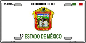 Estado De Mexico Novelty Background Wholesale Metal License Plate LP-4817