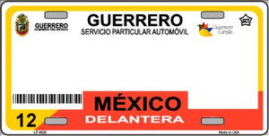 Guerrero Mexico Novelty Background Wholesale Metal License Plate LP-4820