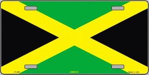 Jamaica Flag Wholesale Metal Novelty License Plate LP-485