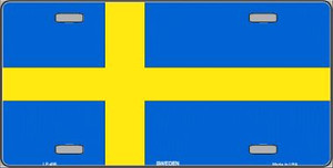 Sweden Flag Wholesale Metal Novelty License Plate LP-486