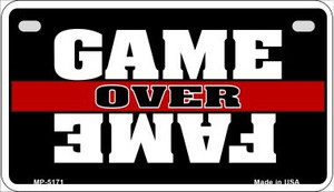 Game Over Fame Wholesale Metal Novelty Motorcycle License Plate MP-5171