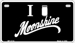 I Love Moonshine Novelty Wholesale Metal Motorcycle License Plate MP-5116