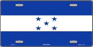 Honduras Flag Wholesale Metal Novelty License Plate LP-489