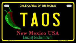 Taos New Mexico Black Wholesale State Motorcycle License Plate MP-11752