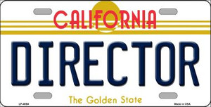 Director California Novelty Wholesale Metal License Plate LP-4894