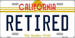 Retired California Novelty Wholesale Metal License Plate LP-4895