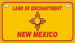 New Mexico Blank Yellow Wholesale State Motorcycle License Plate MP-11736