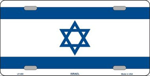 Israel Flag Wholesale Metal Novelty License Plate