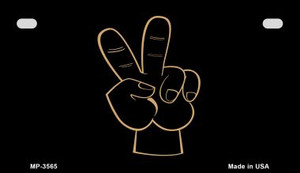 Peace Fingers Wholesale Metal Novelty Motorcycle License Plate MP-3565
